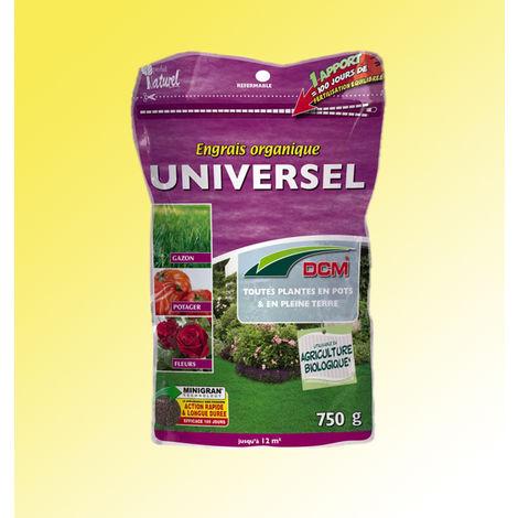 Engrais Organique Universel - Le sachet de 750 g - Engrais ORGANIQUES 100% NATURELS