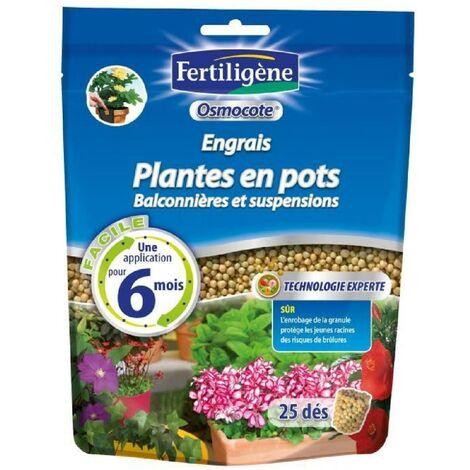 Engrais osmocote plantes en pots doypack de 25 dés Fertiligene
