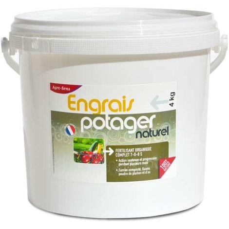Engrais potager concentré tous légumes UAB 4 kg. NPK 7-6-8