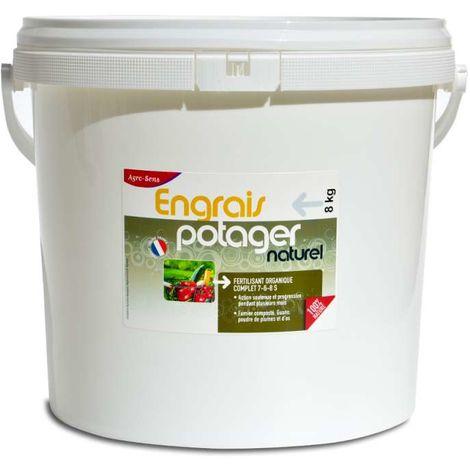 Engrais potager concentré tous légumes UAB 8 kg. NPK 7-6-8