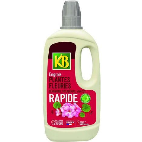 Engrais Rapide Plantes Fleuries : Geraniums, Dipladenias, Vivaces, ... 1L