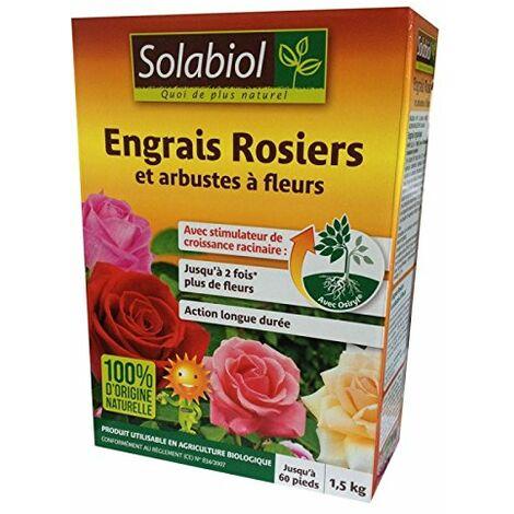 Engrais rosiers et arbustes a fleurs 1,5Kg Solabiol
