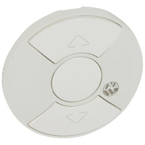 Enjoliveur antimicrobien Céliane pour interrupteur ou poussoir de volets roulants Blanc (067749)