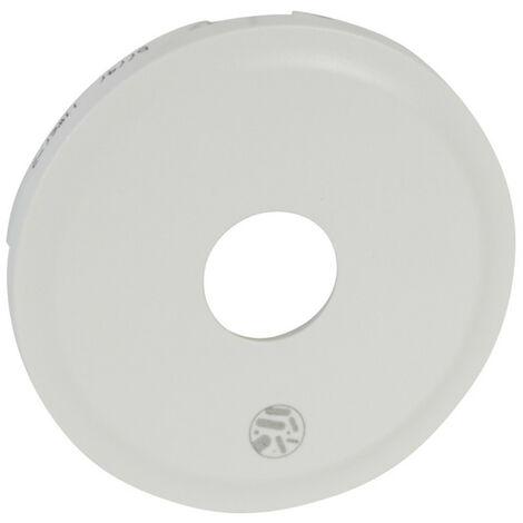 Enjoliveur antimicrobien Céliane pour prise télévision mâle ou typeF à visser Blanc (067747)