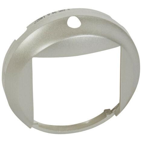 Enjoliveur Céliane détecteur avec bouton poussoir titane (068594)