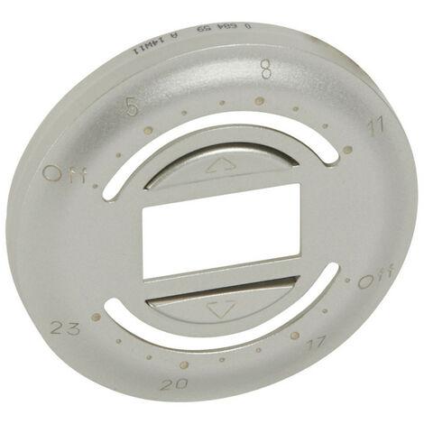 Enjoliveur Céliane pour interrupteur volets avec programmation journalière finition titane (068459)