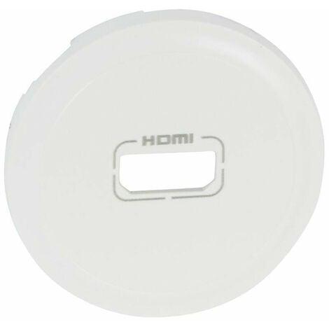 Enjoliveur Céliane - prise audio/video HDMI - blanc (068216)