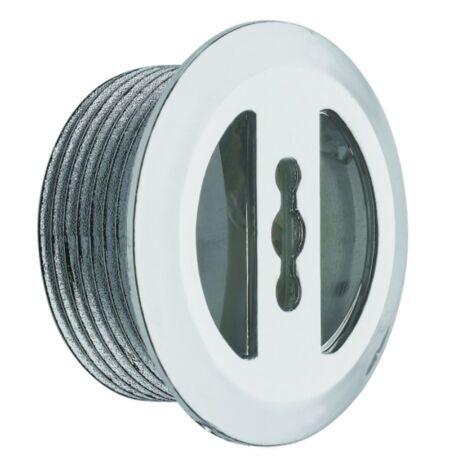 Enjoliveur de trop plein chromé D.30 - 14mm pour vasque