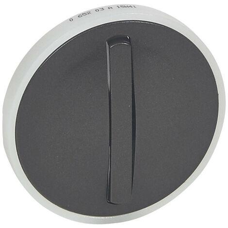 Enjoliveur étroit Céliane pour interrupteur, va-et-vient ou poussoir lumineux finition graphite (065203)