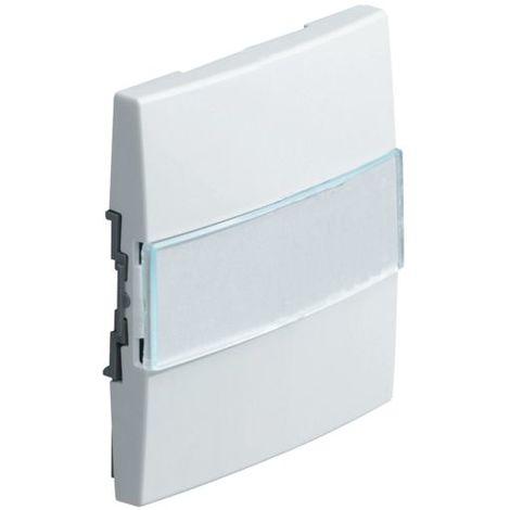 Enjoliveur Interrupteur ou Poussoir WK782B Kallysta HAGER Porte-Étiquette Blanc Névé
