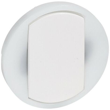 Enjoliveur large Céliane pour interrupteur, va-et-vient ou poussoir lumineux Blanc (065004)