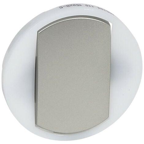 Enjoliveur large Céliane pour interrupteur, va-et-vient ou poussoir lumineux finition titane (065104)