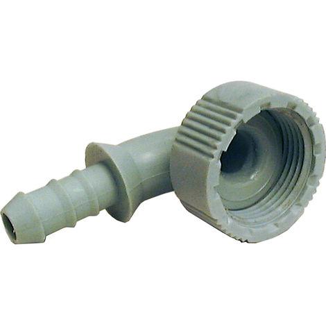 Enlace acodado para tubo Ø10 - hembra G3/4
