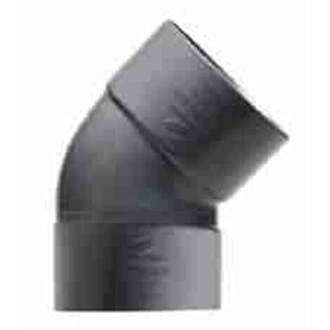ENLACE CODO 45º MACHO PVC EVACUACION 40 MM