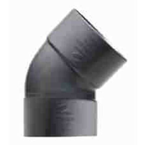 ENLACE CODO 45º MACHO PVC EVACUACION 50 MM