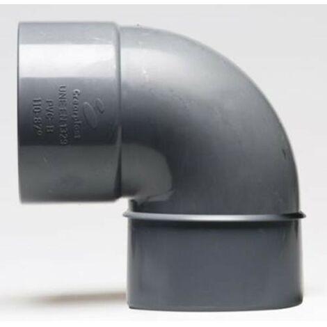 ENLACE CODO 90º MACHO HEMBRA PVC EVACUACION 40 MM