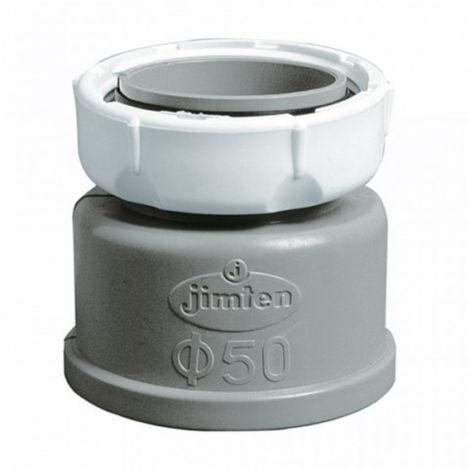 ENLACE FONTAN MIXTO 1 1/2'-Ø40 HEMBRA PVC BL/GR A-12 JIMTEN