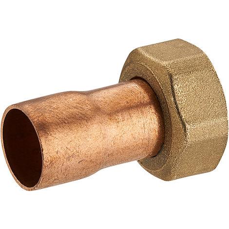 enlace hierro/cobre 2 piezas recto tuerca cautiva