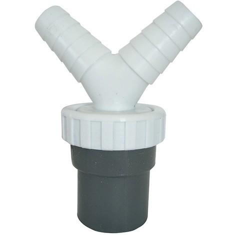 Enlace Mixto Tubos Encolar Con Doble Toma 1''1/2 40 Lavavajillas-Lavadora Pvc - NEOFERR