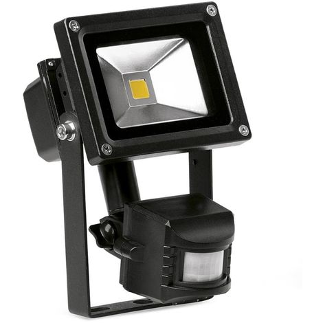 Enlite EN - FL10PIRA/40 Helius 10W LED Floodlight PIR Black IP65 Adjustable 4000K 750lm
