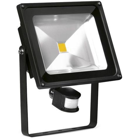 Enlite EN - FL50PIRA/40 Helius 50W LED Floodlight PIR Black IP65 Adjustable 4000K 3750lm
