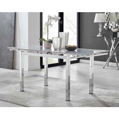 "main image of ""Enna White Glass Extending Dining Table"""