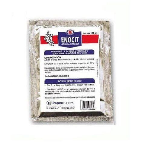 ENOCIT 100g previene la quiebra férrica y equilibra la acidez del vino