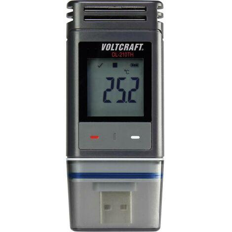 Enregistreur de données VOLTCRAFT DL-210TH Valeur de mesure température, humidité de lair -30 à +60 °C 0 à 100 % HR fonction PDF Etalonnage dusine (sans