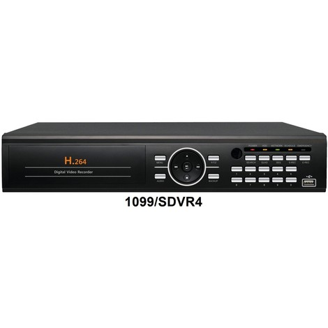 """main image of """"EnregistreurDVR 4voiesH.264 graveur DVD disque dur 500 GO sortie VGA pour système vidéosurveillance URMET 1099/SDVR4"""""""
