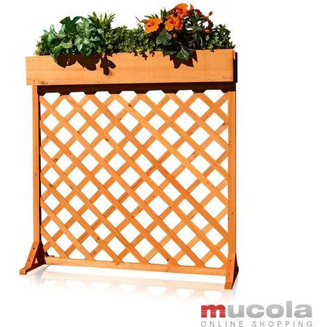Enrejado jardinera rejilla enrejado soporte para plantas de madera macetero maceta arriate celosía flores plantas jardín terraza exterior