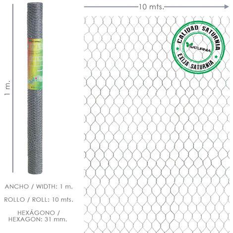 Enrejado Triple Torsion 31/ 100 cm. Rollo 10 Metros Uso Domestico