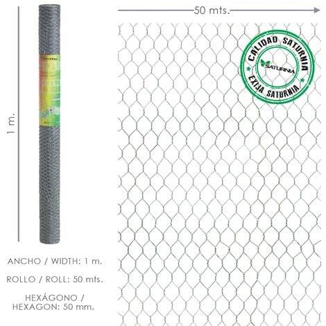 Enrejado triple torsion 50/ 100 cm. rollo 50 metros uso domestico