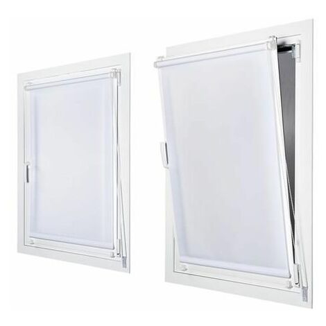 "main image of ""Enrollable Sin Taladrar Tráslucido Blanco 45X180 - Blanco"""