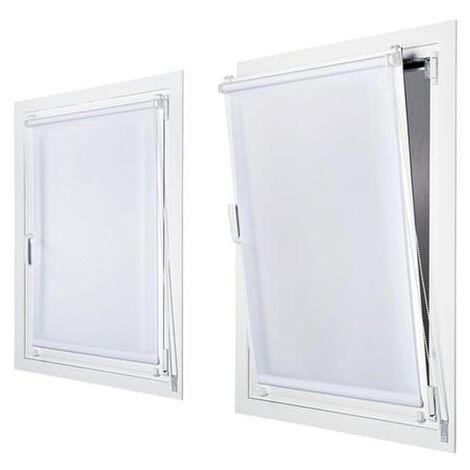 Enrollable Sin Taladrar Tráslucido Blanco 90X180 - Blanco