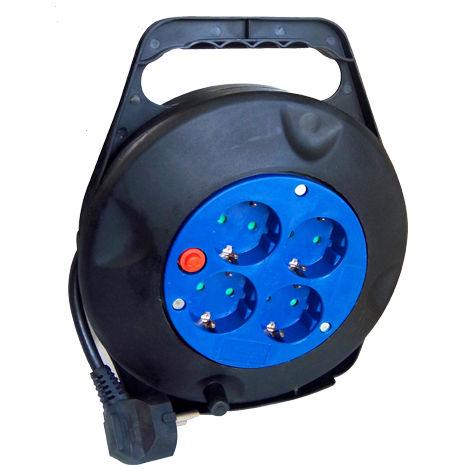 Enrollador Carcasa 4 tomas 16A H05VV-F 3G1,5