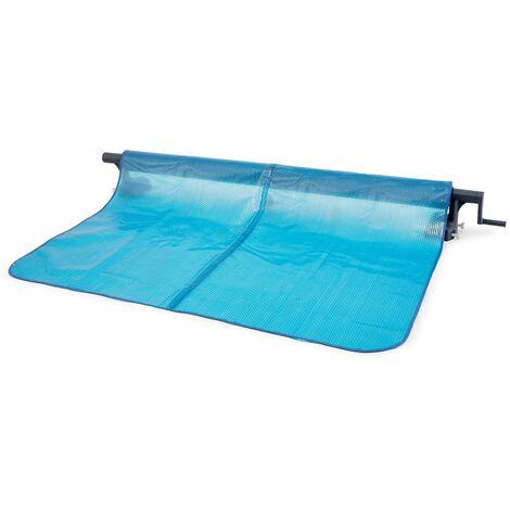 Enrollador de cubierta burbujas - Intex - Gris