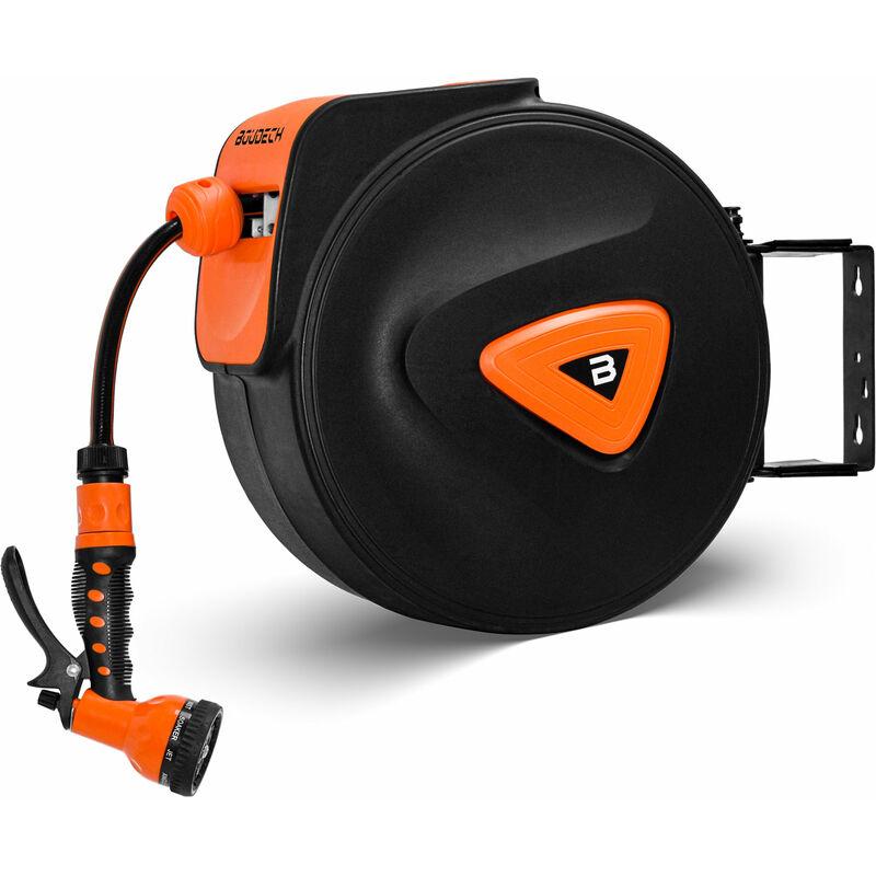 Enrollador de manguera automático para giratorio de jardín y enrollador con bomba de 10 Mt.