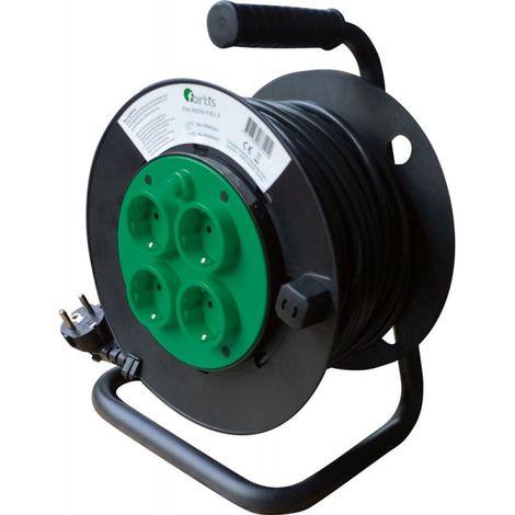 Enrollador eléctrico plástico 25m H05VV-F3G1,5 FORTIS