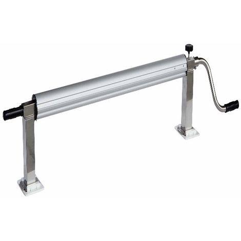 Enrollador en acero inox para mantas de burbujas extensible de 1 m a 6,50 m + pinzas – Adecuado a la Normativa CEE