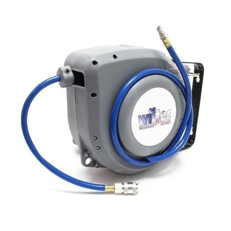 Enrollador manguera neumática automático 9m Soporte pared Tambor manguera aire comprimido Taller