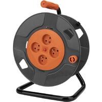 Enrouleur 4 prises 2P+T 16A vide à câbler + coupe-circuit - Zenitech