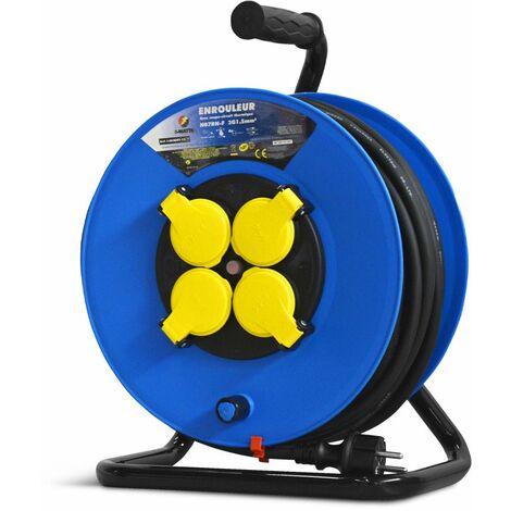 Enrouleur 4 prises-h07en-3g1.5mm²-25m -I-watts Pro