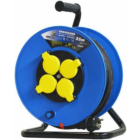 Enrouleur 4 prises-h07rn-3g2.5mm²-25M -I-watts Pro
