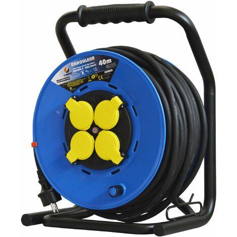 Enrouleur 4 prises-h07rn-3g2.5MM²-40M -I-watts Pro
