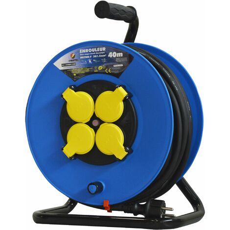 Enrouleur 4prises-h07rn-3g1.5mm²-40m - I-Watts Pro