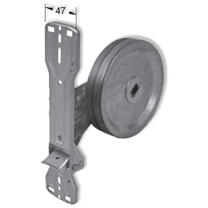 Enrouleur à sangle encastré avec plaque à clipser PVC 22 mm - Packline