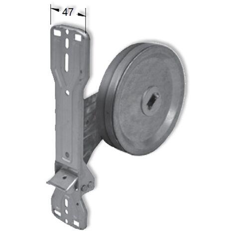 Enrouleur à sangle encastré Packline avec plaque à clipser PVC 22 mm