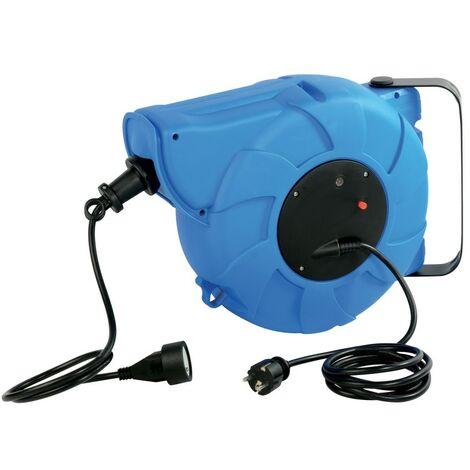 Enrouleur automatique mural 22m avec protection thermique Bleu - Bleu