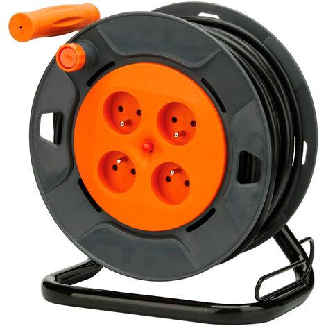 Enrouleur bricolage - 4 prises 16A - 3G1,5mm² - 25 ou 40m