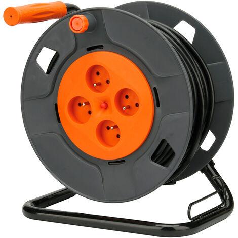 Enrouleur bricolage - 4 prises 16A - 3G1,5mm² - 40m - Zenitech